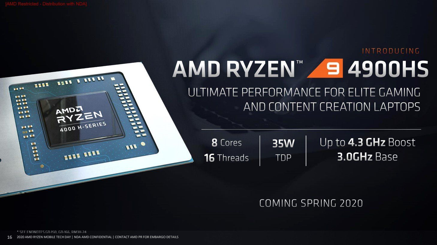 AMD ra mắt Ryzen Mobile 4000 cho laptop