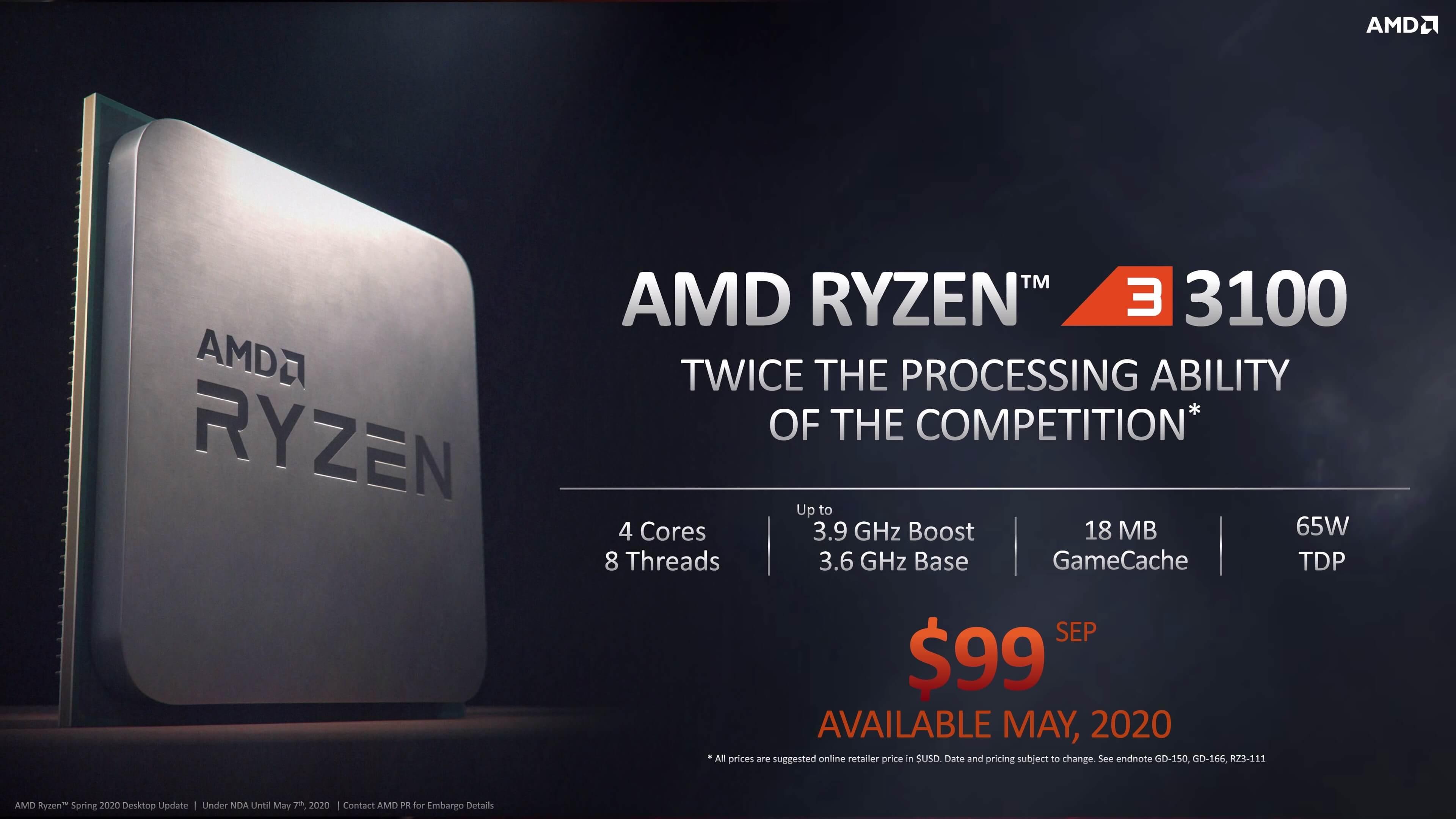 Amd Ryzen 3 3100 Và Ryzen 3 3300X - Sự Lựa Chọn Tốt Nhất Trong Tầm Giá!
