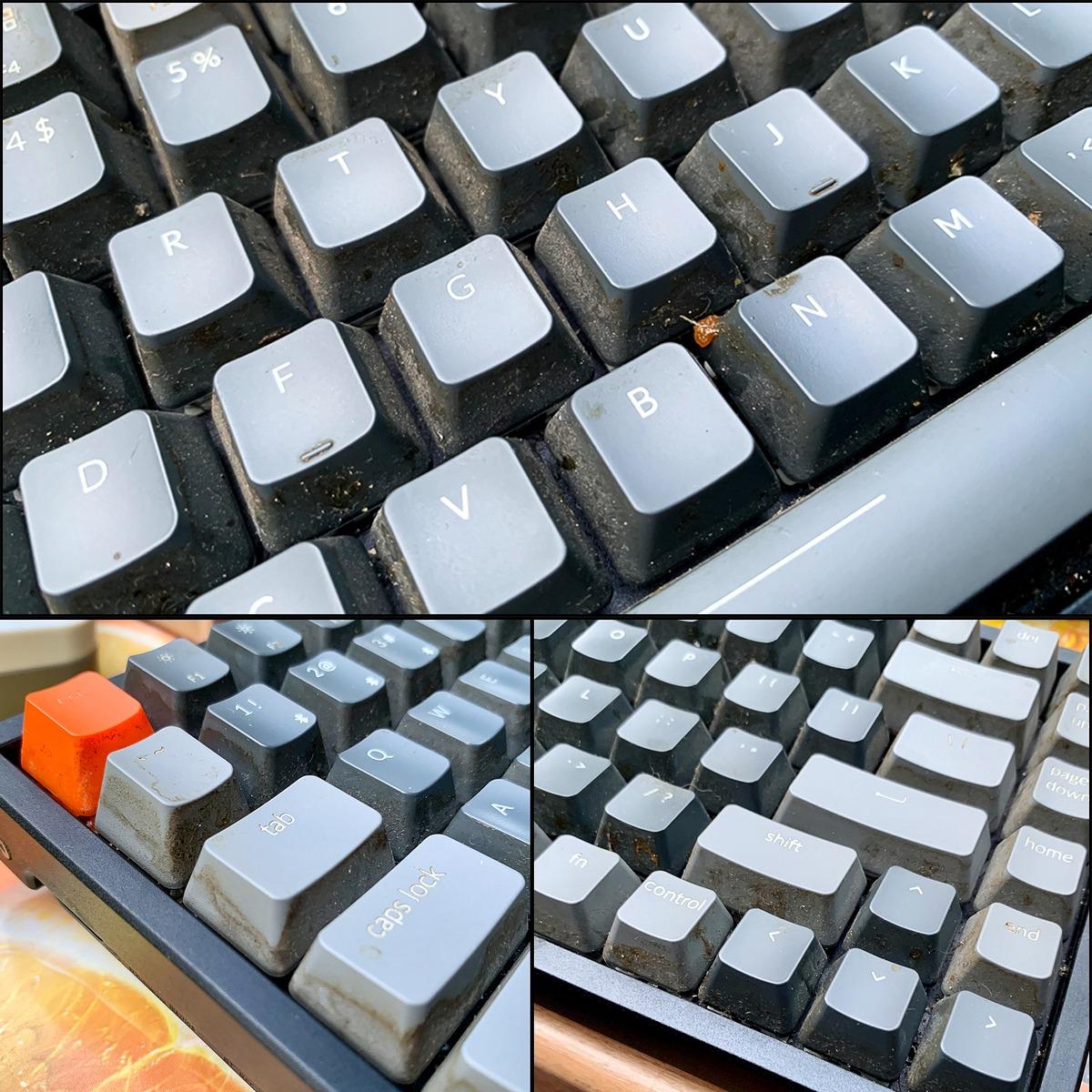 Hồi sinh bàn phím Keychron K2 bị đổ sting dâu