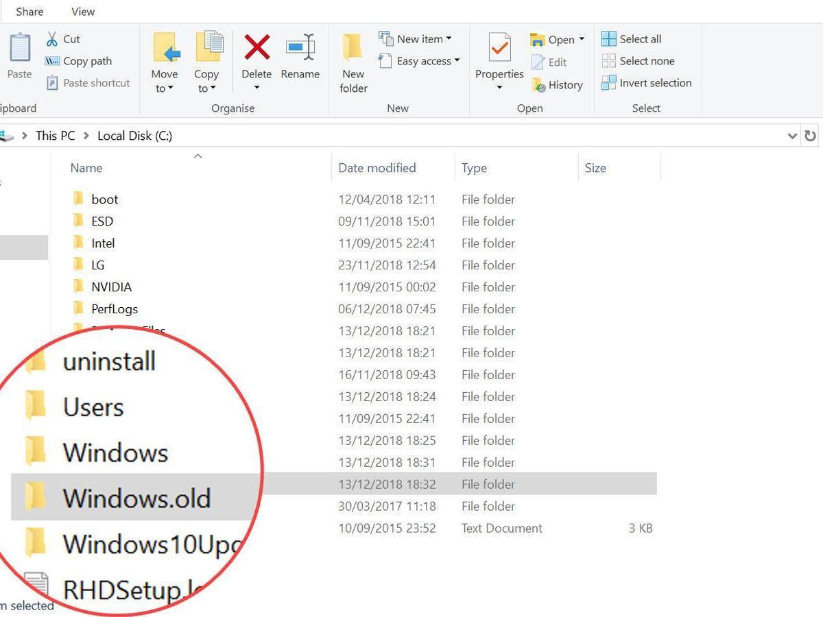 Cách Lấy Lại Dung Lượng Ổ Cứng Sau Khi Cập Nhật Windows 10