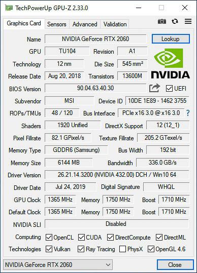 Msi Rtx 2060 Ventus Xs Oc 6gb Gddr6 14