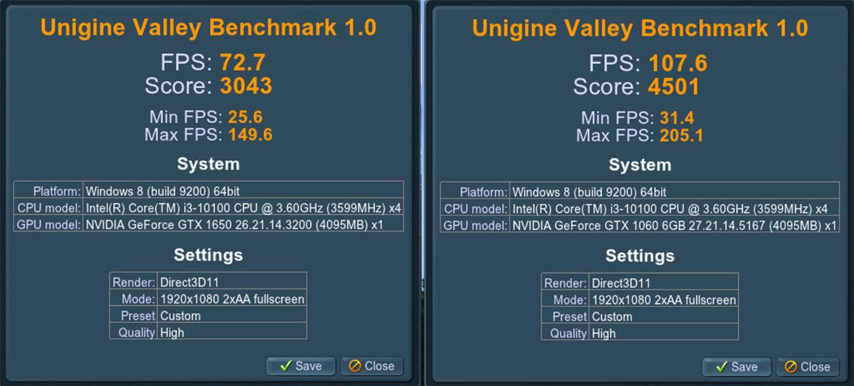 Unigine Valley Benchmark 1.0 Gtx 1650 Vs 1660 Scores