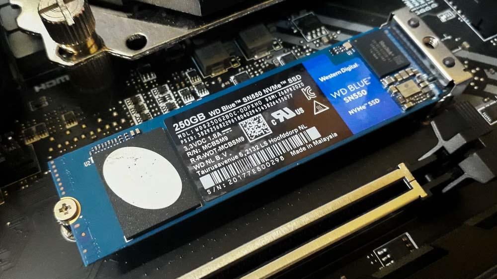 Wd Blue Sn550 250gb Nvme Ssd 3