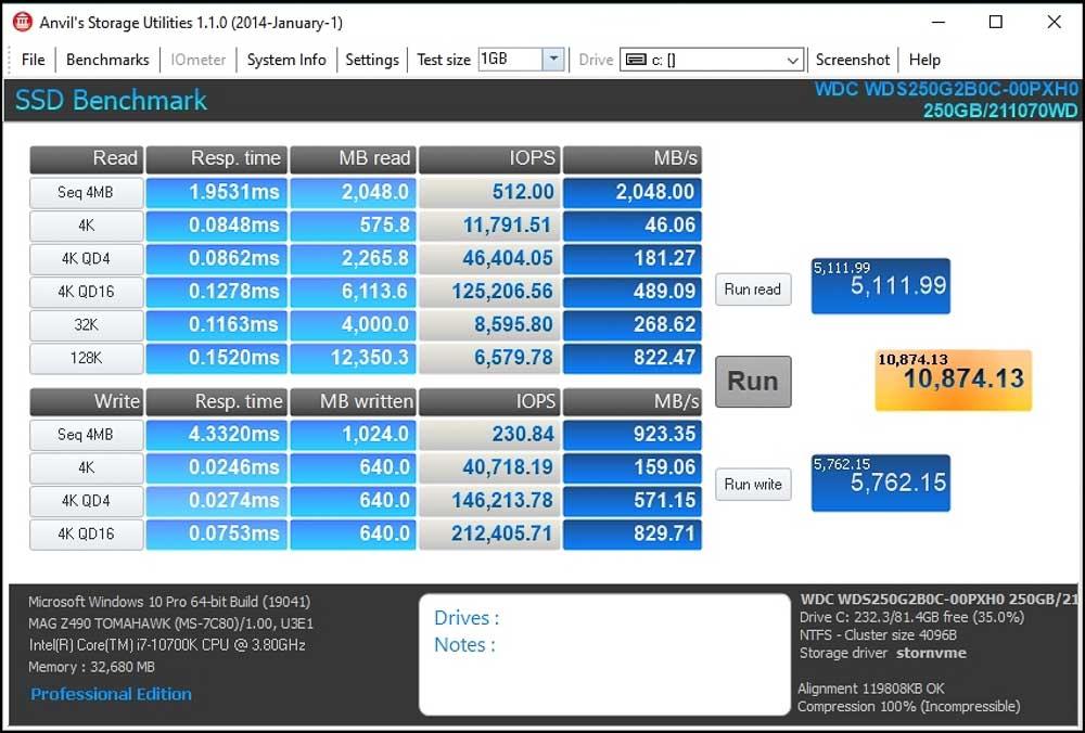 Wd Blue Sn550 250Gb Nvme Ssd (7 Of 8)