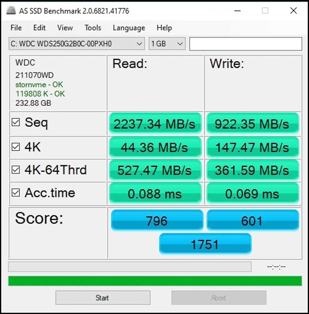 Wd Blue Sn550 250gb Nvme Ssd (8 Of 8)