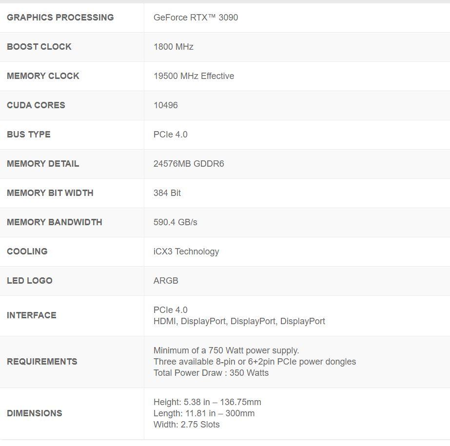 Evga Geforce Rtx 3090 Ftw3 Ultra Gaming – 24gb Gddr6x02