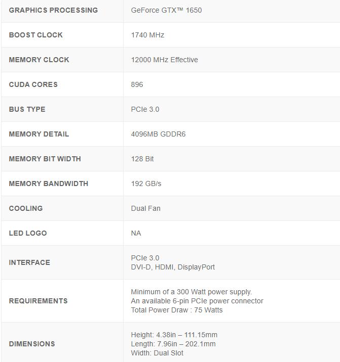 Geforce Gtx 1650 Ko Ultra10