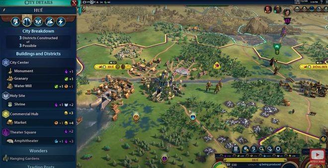 Tạo hình Bà Triệu trong game Civilization 6