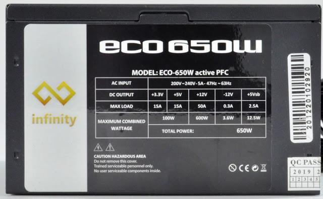 Review - Infinity Eco 650W