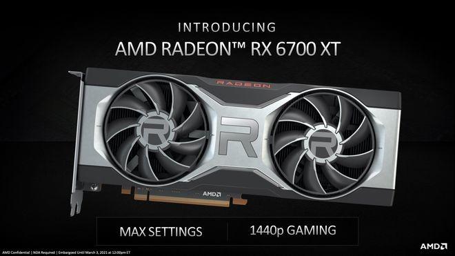 Card đồ hoạ AMD RX 6700XT ra mắt