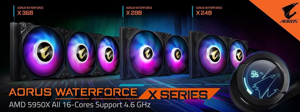 Gigabyte Ra Mắt Tản Nhiệt Bằng Chất Lỏng, Aorus Waterforce X Series Aio