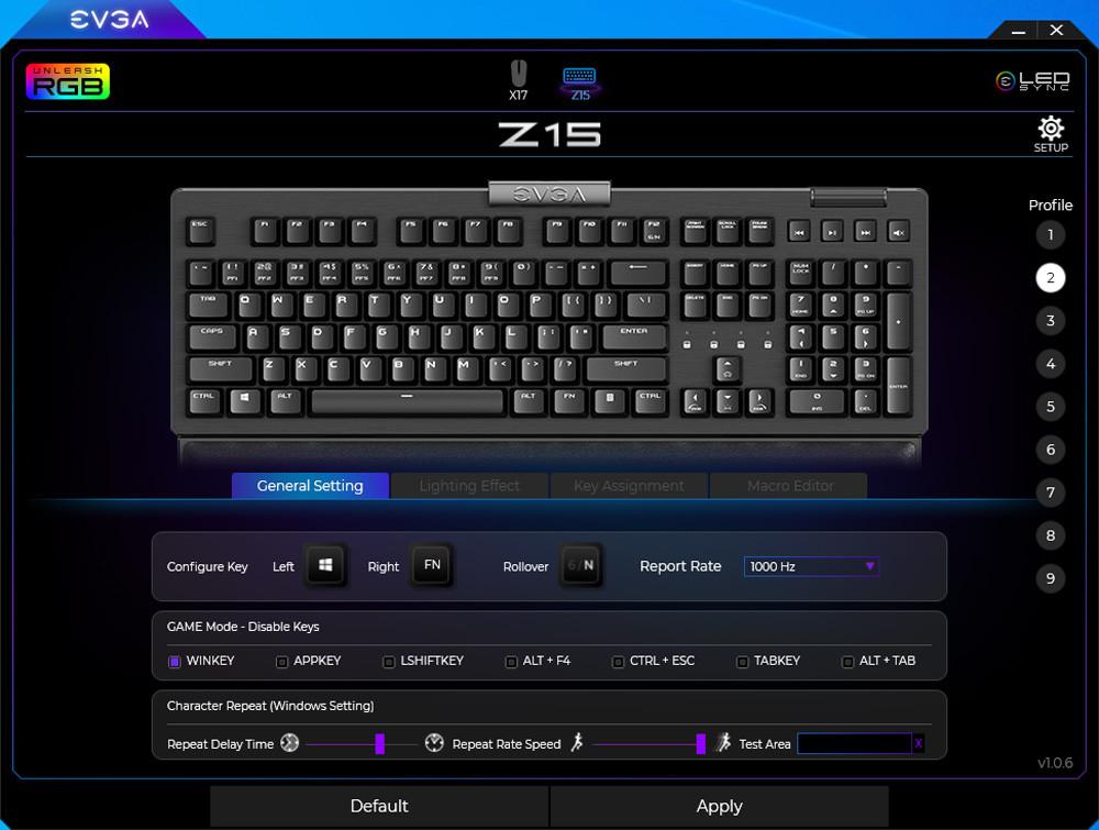 Evga Z15 Gaming Keyboard Rgb 12