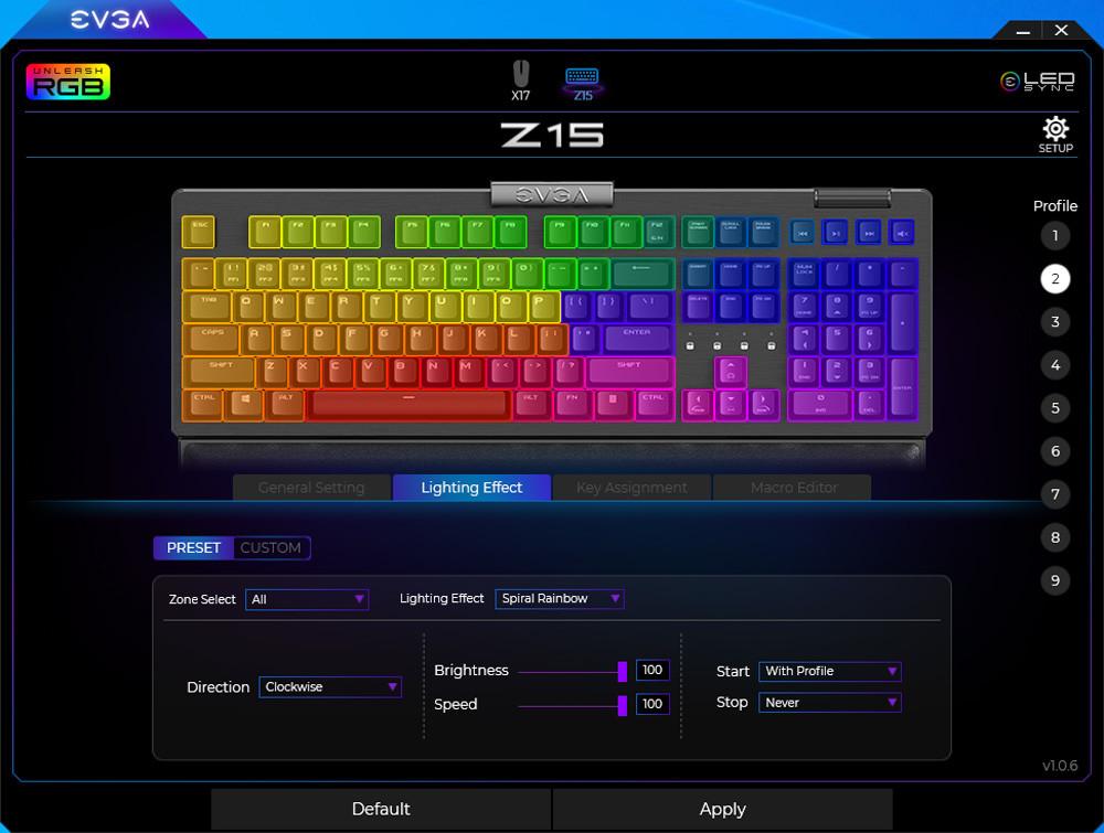 Evga Z15 Gaming Keyboard Rgb 13