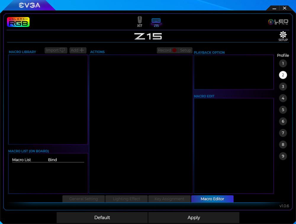 Evga Z15 Gaming Keyboard Rgb 15
