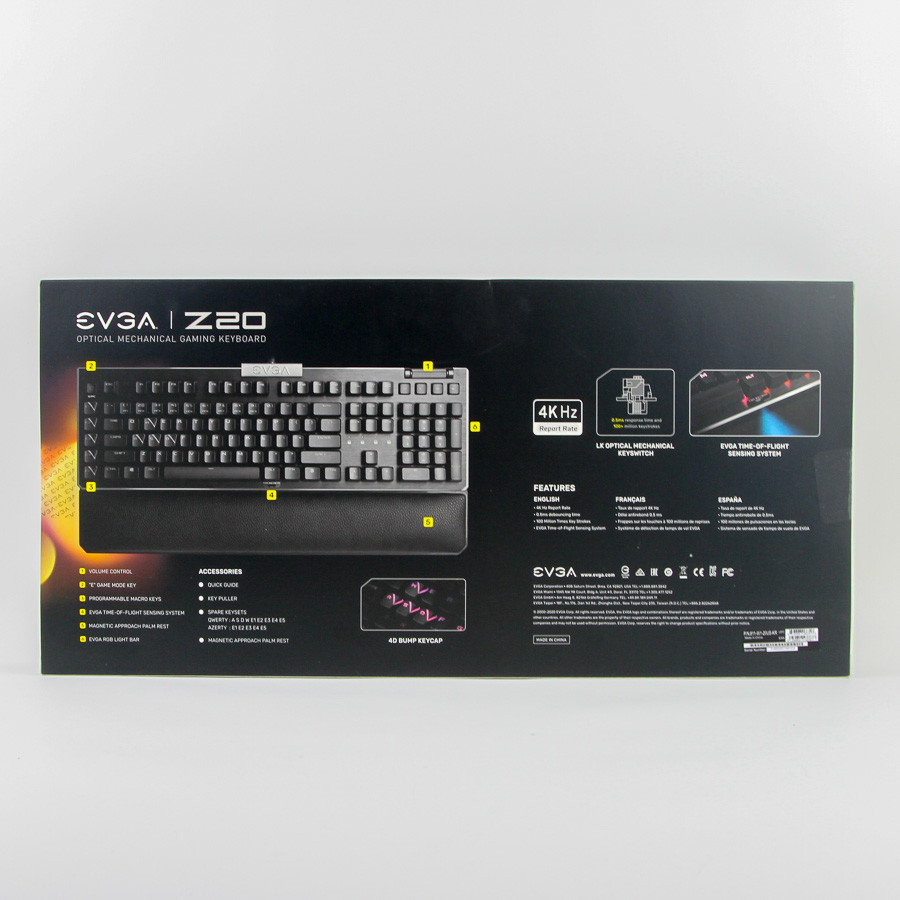 Evga Z20 Rgb Optical Mechanical Gaming Keyboard07