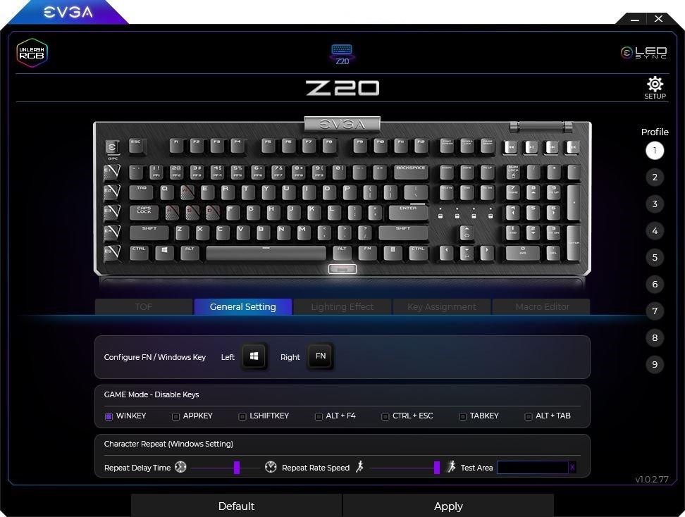 Evga Z20 Rgb Optical Mechanical Gaming Keyboard08