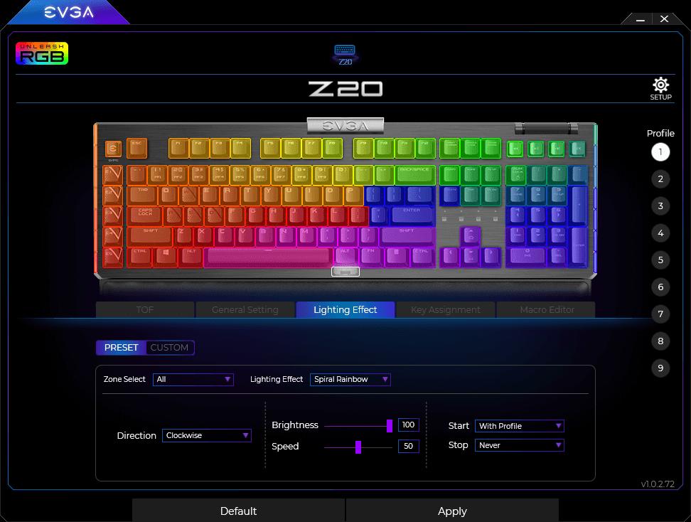 Evga Z20 Rgb Optical Mechanical Gaming Keyboard09