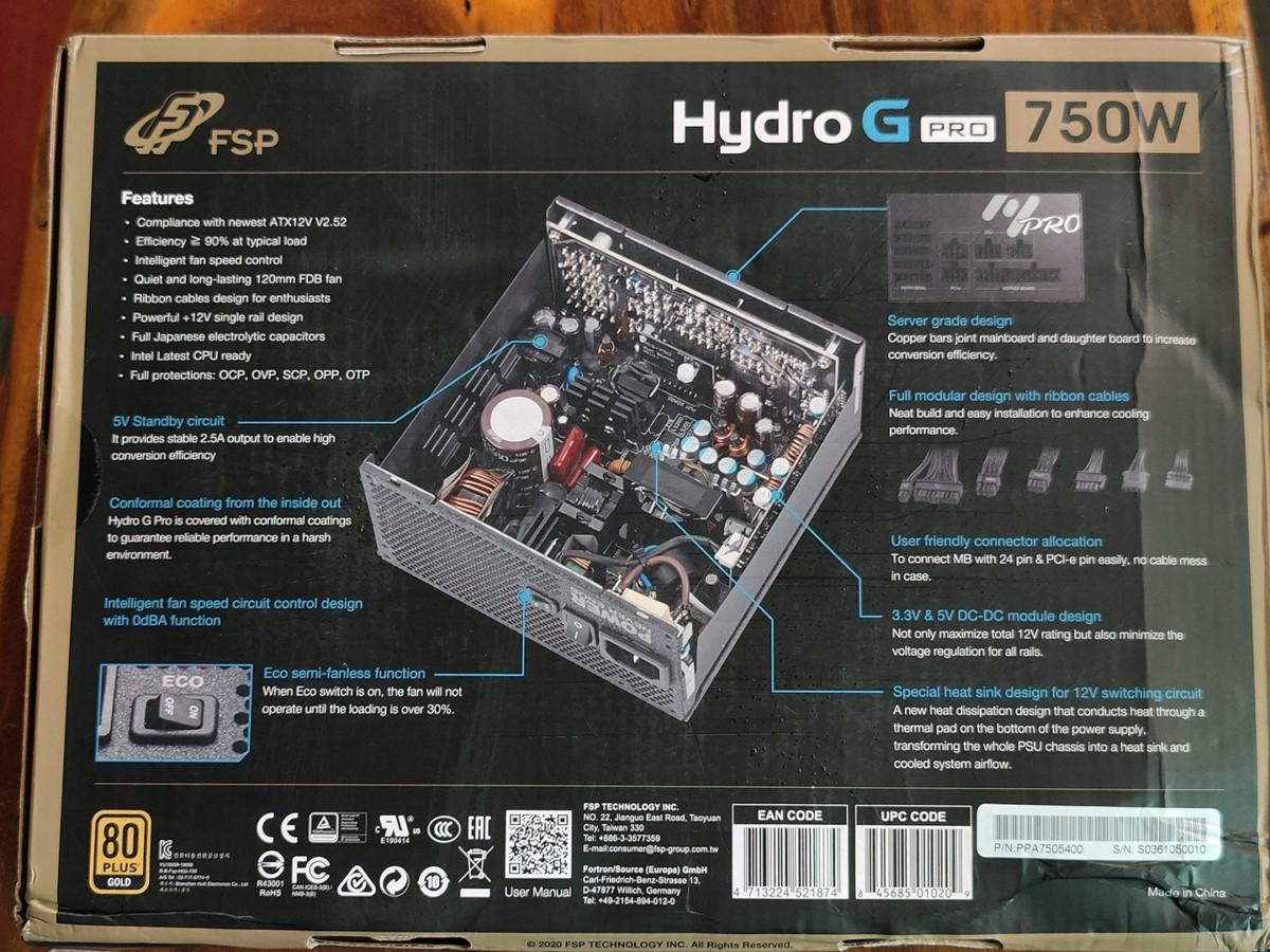 FSP Hydro G Pro 750W - Lựa chọn nguồn chất lượng cho máy tính game cao cấp