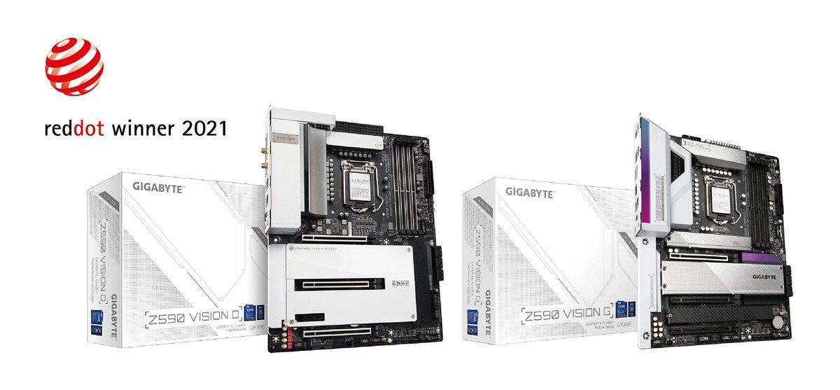 Gigabyte Aorus Geforce Rtx™ 3080 Xtreme 10G, Z590 Vision D Và Z590 Vision G Đoạt Giải Thiết Kế Red Dot