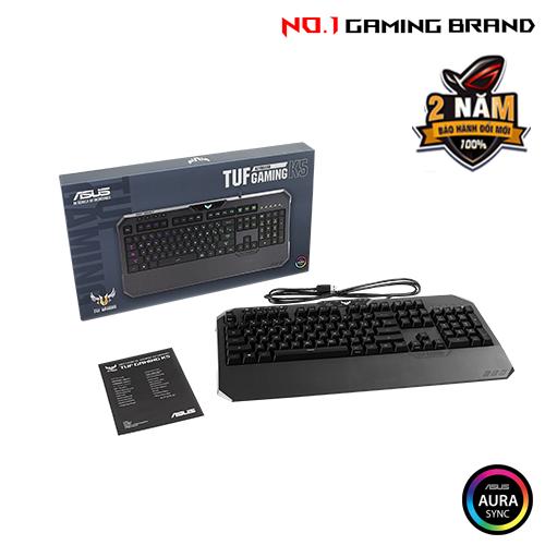 Review Nhanh Bàn Phím Asus Tuf Gaming K5 Rgb15
