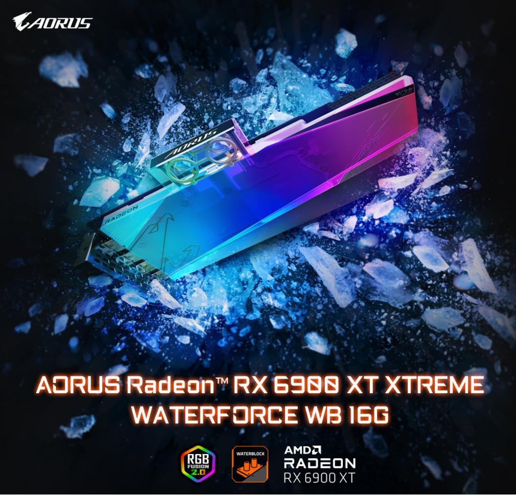 Gigabyte Waterforce Aorus Radeon™ Rx 6900 Xt Xtreme Waterforce Wb 16G 3