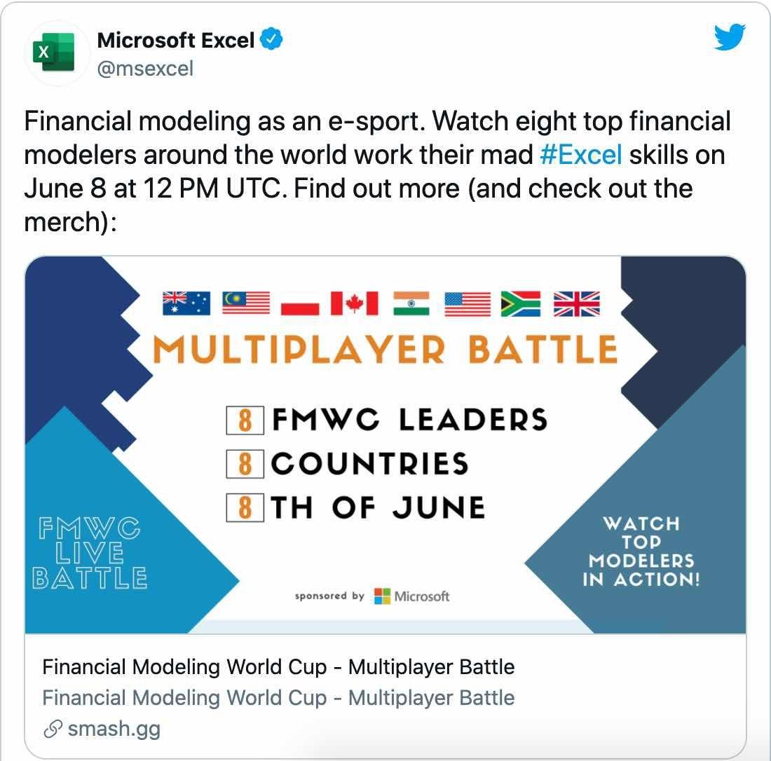 Lần Đầu Tiên Trong Lịch Sử: Microsoft Excel Tổ Chức Giải Đấu Esports