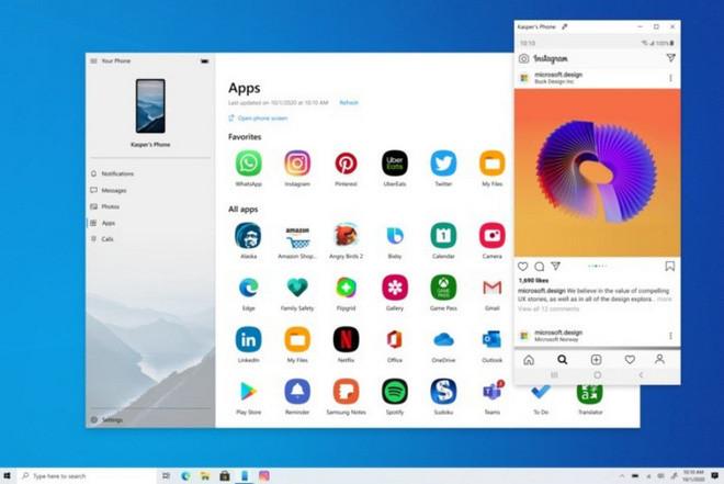 Microsoft Cho Phép Sử Dụng Ứng Dụng Android Trên Windows 10 Thông Qua Your Phone