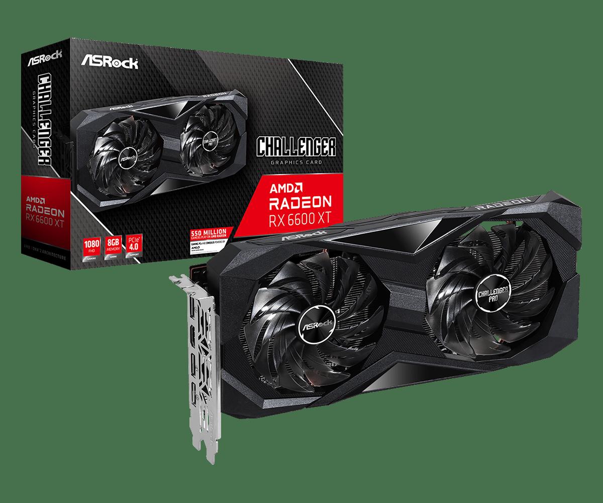 Asrock Công Bố Series Cạc Đồ Họa Amd Radeon™ Rx 6600 Xt