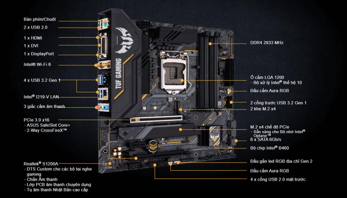 Asus Tuf Gaming B460M-Plus Wifi – Socket 1200