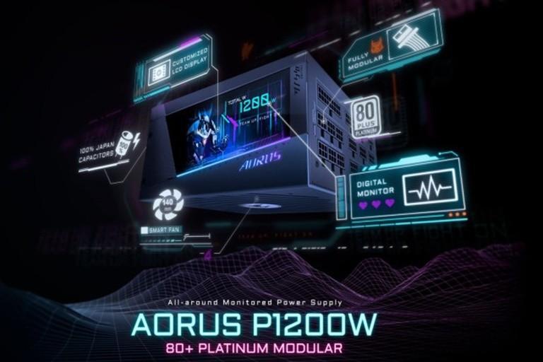 Gigabyte Aorus P1200W: Bộ Nguồn Tích Hợp Màn Hình Lcd
